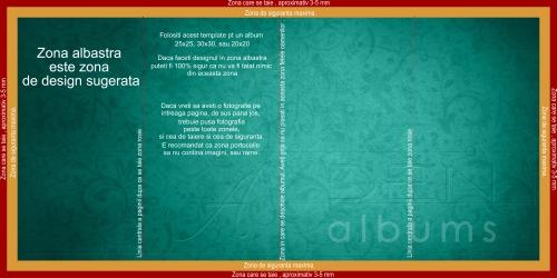 template design layout albume foto digitale, marimile 20x20, 25x25, 30x30 cm (albumul inchis)