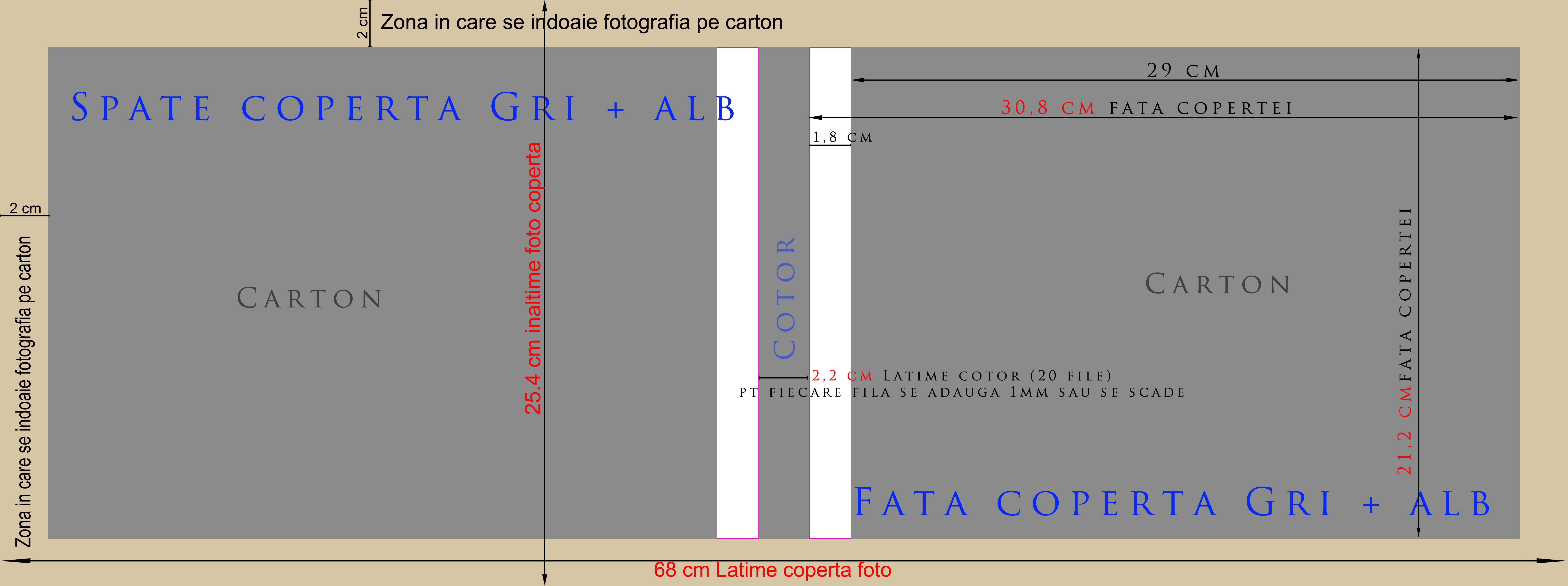 template coperta foto pt album digital (20x30 H, 15x20 H, 25x38 H)